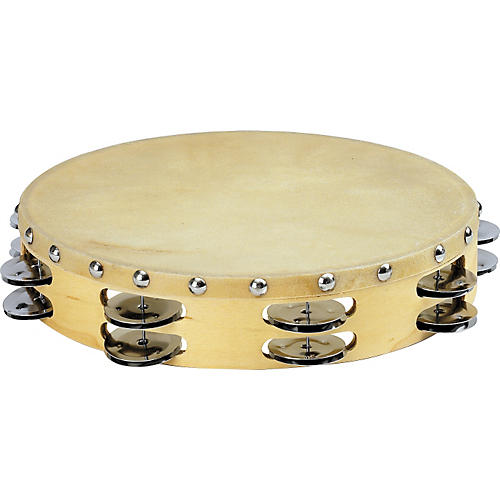 Sound Percussion Labs PDM2016M-R Tambourine with Calfskin Head  10 in.
