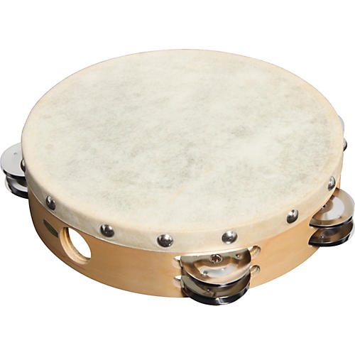 Sound Percussion Labs PDM2016M-R Tambourine with Calfskin Head-thumbnail