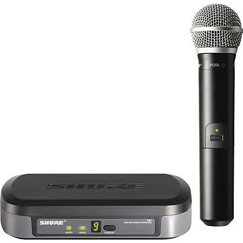 Shure PG24/PG58 Performance Gear Wireless Handheld Microphone System-thumbnail