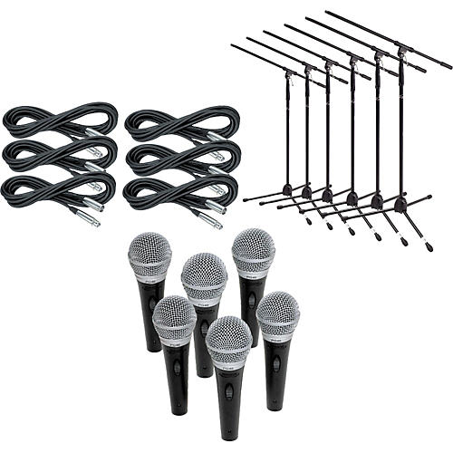 Shure PG48 6-Pack Mic and Stand Kit