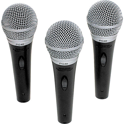 Shure PG48 Microphone 3-Pack-thumbnail