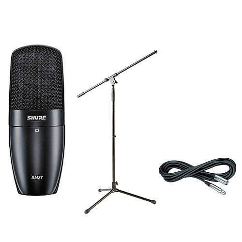 Shure PGA27 Condenser Mic with Cable and Stand-thumbnail