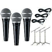 Shure PGA48 3-Pack Mic and Stand Kit