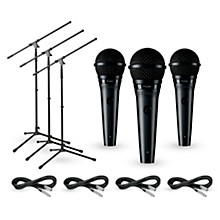 Shure PGA58 3-Pack Mic and Stand Kit