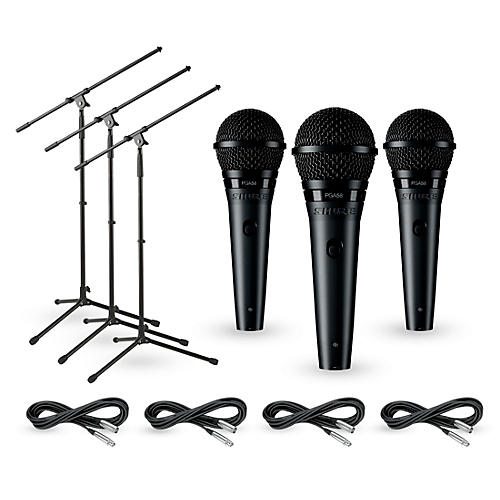Shure PGA58 3-Pack Mic and Stand Kit-thumbnail