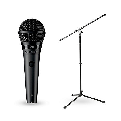Shure Pga58 Xlr Vocal Microphone With Stand Guitar Center