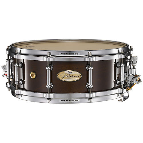 Pearl PHILHARMONIC PHM1450204 SOLID MAPLE SNARE DRUM HIGH GLOSS WALNUT BORDEAUX 14X5