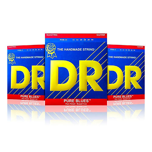 DR Strings PHR-11 Pure Blues Heavy Electric Strings -  Buy Two, Get One Free-thumbnail