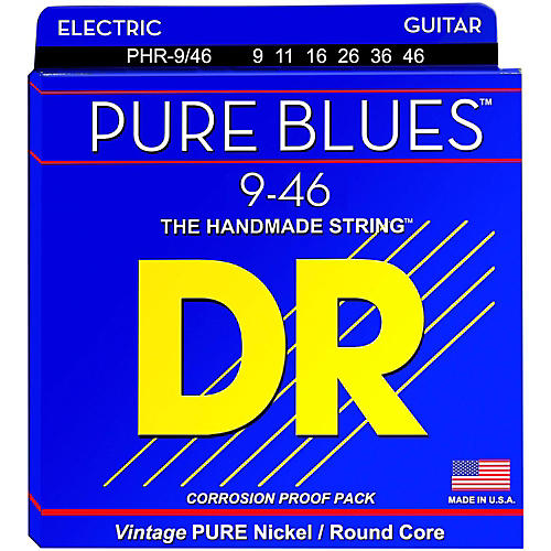 DR Strings PHR9/46 Pure Blues Nickel Lite'n'Heavy Electric Guitar Strings