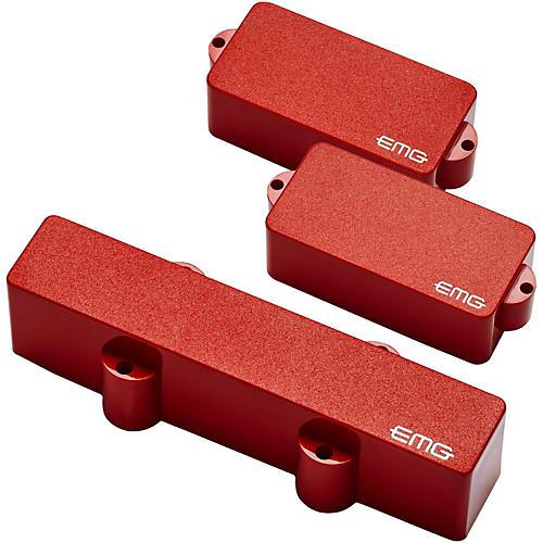 EMG PJ Set Active Bass Pickup Set Red-thumbnail