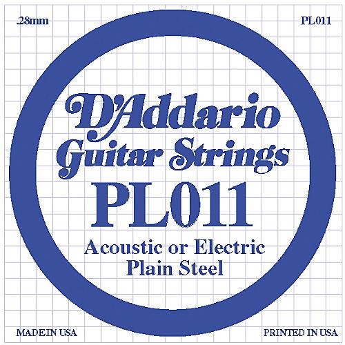 D'Addario PL011 Plain Steel Guitar Strings  Single