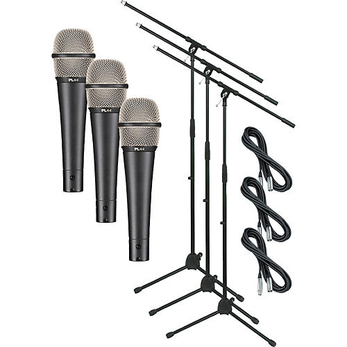 Electro-Voice PL44 with Cable and Stand 3 Pack-thumbnail
