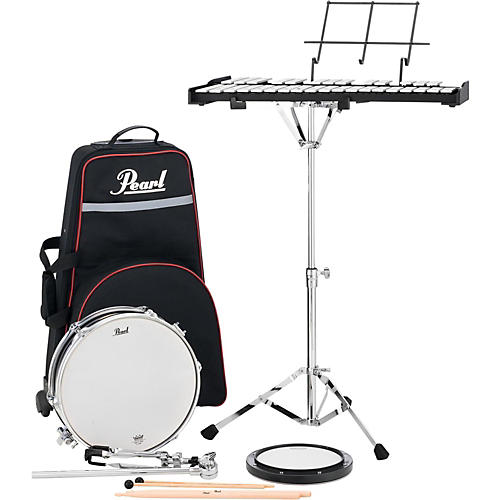Pearl pl910c educational snare and bell kit with rolling for Yamaha student bell kit with backpack and rolling cart