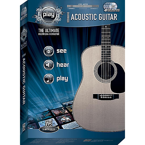 Alfred PLAY Series  Beginning Acoustic Guitar CD-ROM