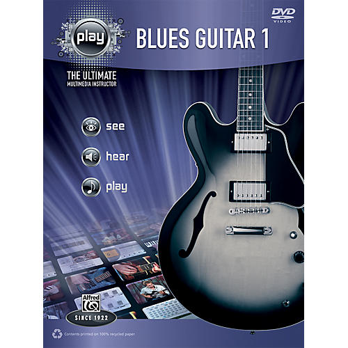 Alfred PLAY Series Blues Guitar 1 Book & DVD-thumbnail