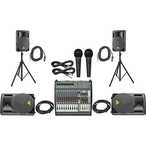 Behringer PMP4000 / B212XL Mains Monitors & Mics Package