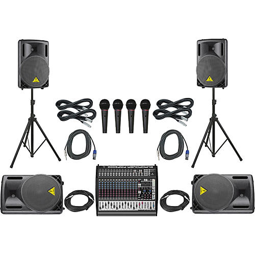 Behringer PMP6000/B212XL Mains & Monitors PA Package