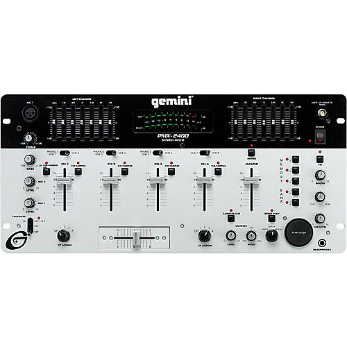 Gemini PMX-2400 Four-Channel DJ Mixer with Sampler