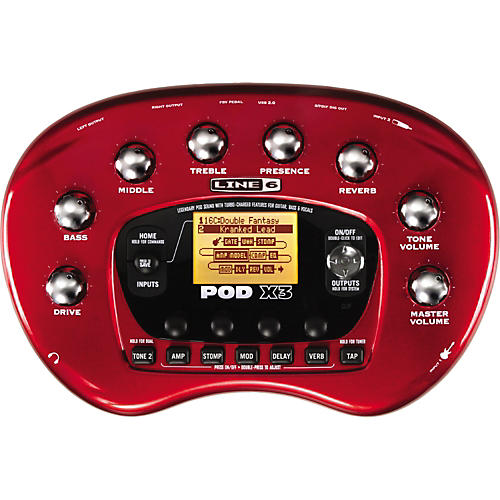 Line 6 POD X3 Guitar Multi Effect Processor-thumbnail