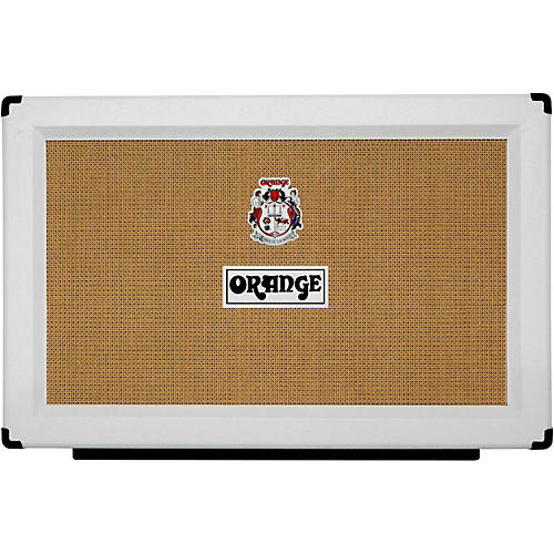 Orange Amplifiers PPC Series PPC212 120W 2x12 Closed-Back Guitar Speaker Cabinet in Limited Edition White