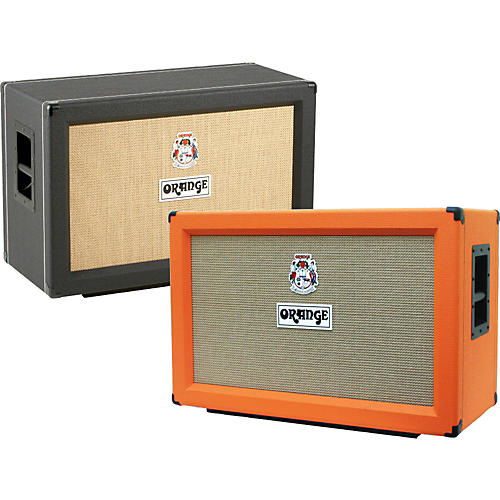 Orange Amplifiers PPC Series PPC212-C 120W 2x12 Closed Back Guitar Speaker Cabinet Black Straight-thumbnail