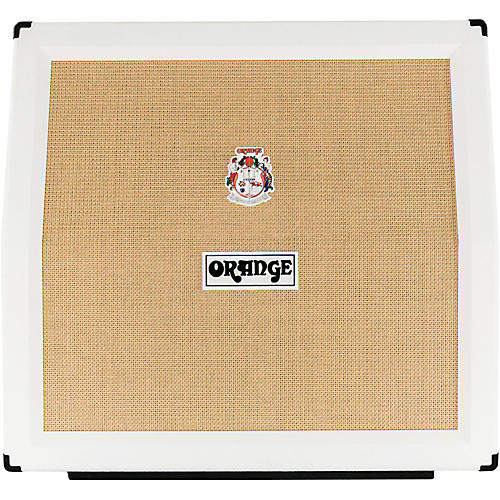 Orange Amplifiers PPC Series PPC412AD 240W 4x12 Angled Front Compact Closed-Back Guitar Speaker Cabinet in Limited Edition White