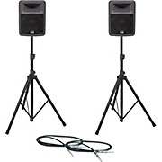 Peavey PR 10 Speaker Pair with Stands and Cables