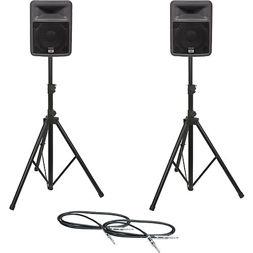 Peavey PR 10 Speaker Pair with Stands and Cables-thumbnail