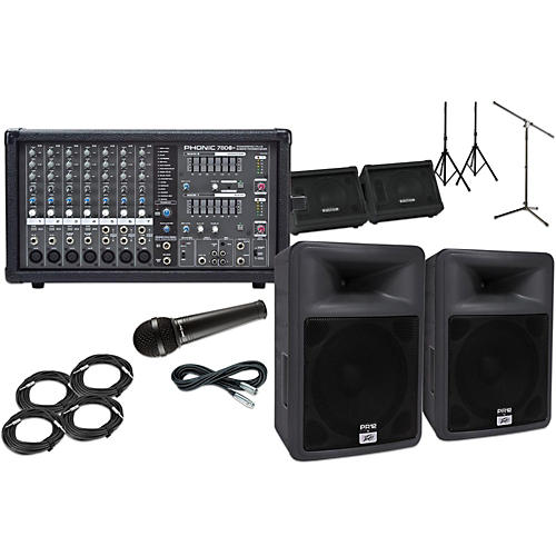 Peavey PR12 with Phonic Powerpod 780 Mains and Monitors Package-thumbnail