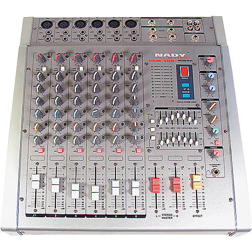 Nady PRM-400 6-Channel 200W/Side Stereo-Powered Mixer