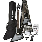 PRO-1 Explorer Electric Guitar Pack Silver Burst