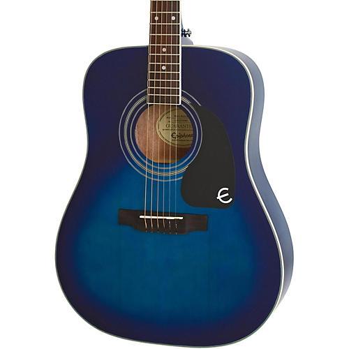 Epiphone PRO-1 PLUS Acoustic Guitar Transparent Blue
