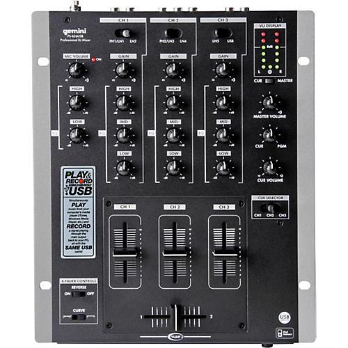 Gemini PS-626USB 3-Channel USB DJ Mixer