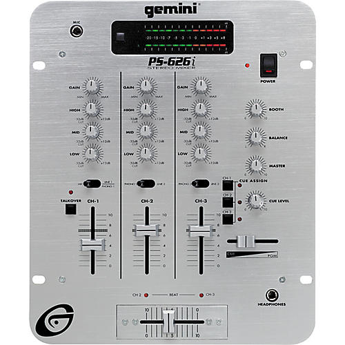 Gemini PS-626i 3 Channel Pro Preamp Mixer