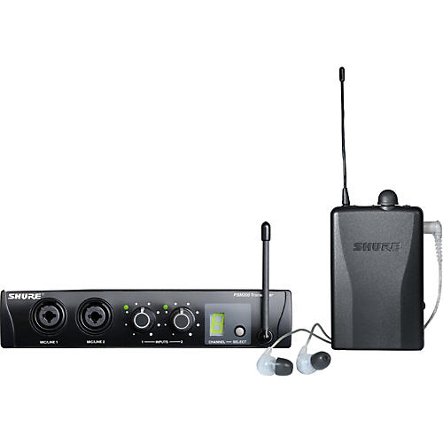 Shure PSM200 Wireless Personal Monitoring System with SE115-CL Earphones-thumbnail