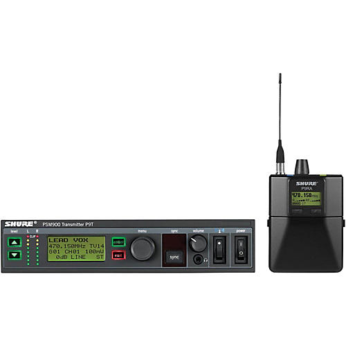 Shure PSM900 System with P9RA Rechargeable Bodypack Receiver without Earphones
