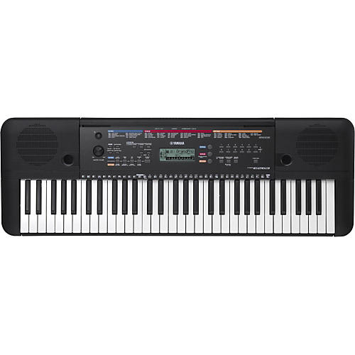 Yamaha psr e263 61 key portable arranger keyboard black for Yamaha learning keyboard