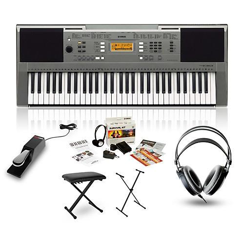 yamaha psr e353 portable keyboard package guitar center. Black Bedroom Furniture Sets. Home Design Ideas