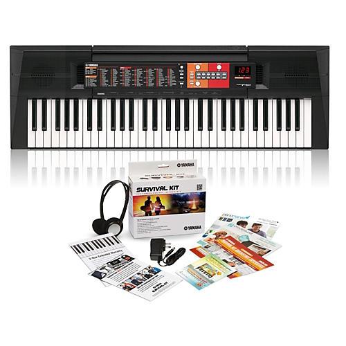 yamaha psr f51 61 key portable keyboard with survival kit. Black Bedroom Furniture Sets. Home Design Ideas