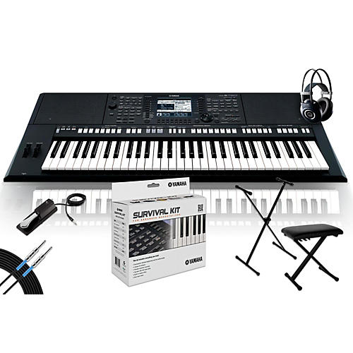 Yamaha PSR-S750 with M90 MkII, Bench, Stand & Sustain Pedal-thumbnail