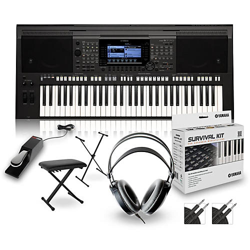 yamaha psr s770 arranger keyboard package guitar center. Black Bedroom Furniture Sets. Home Design Ideas