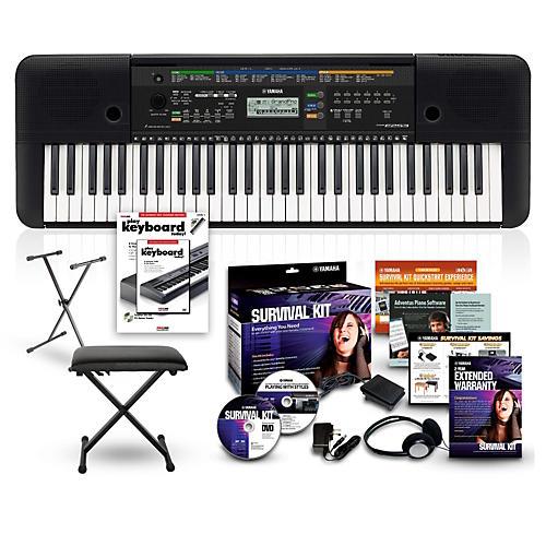yamaha psre253 61 key portable keyboard package guitar center. Black Bedroom Furniture Sets. Home Design Ideas