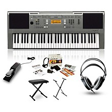 Yamaha PSRE353 with Headphones, Bench, Stand and Sustain Pedal