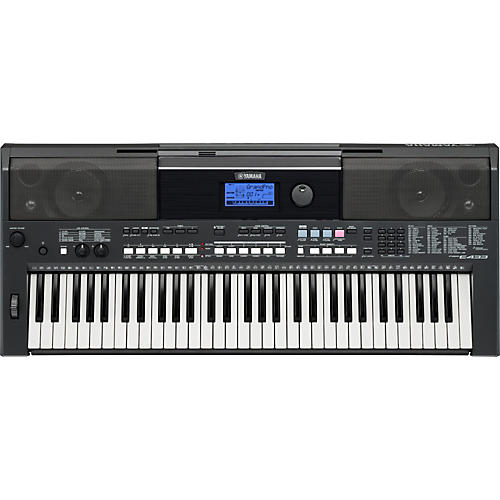 Yamaha psre433 61 key portable keyboard guitar center for Yamaha learning keyboard