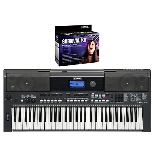 Yamaha PSRE433 Portable Digital Piano with Yamaha D2 Survival kit-thumbnail