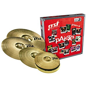 Paiste PST 3 Limited Edition Universal Cymbal Set with Free 18 inch Crash