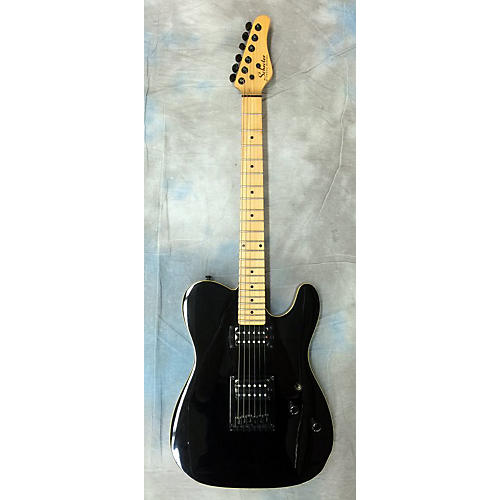 Schecter Guitar Research PT Classic Ebony Solid Body Electric Guitar