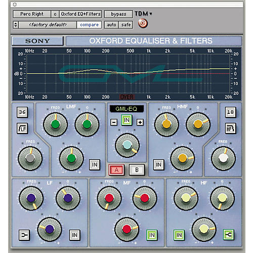 Sony PTH-GEQG2 Oxford EQ + GML Plug-in for Pro Tools TDM