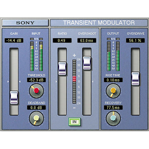 Sony PTH-TMDG2 Oxford Transient Modulator Plug-in for Pro Tools TDM-thumbnail
