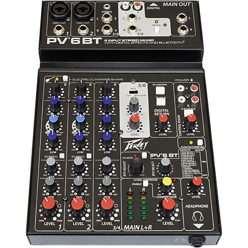 Peavey PV 6 BT Mixer with Bluetooth-thumbnail